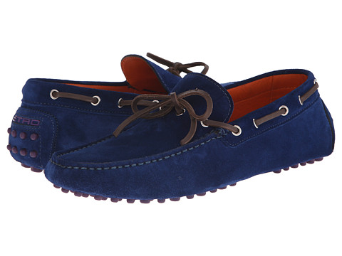 Etro - Moccasin Driver (Blue) Men's Shoes