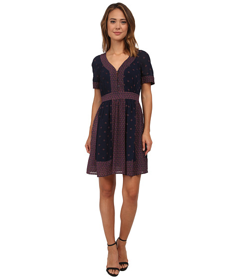 French Connection - Woodstock Georgette Dress 71EBU (Nocturnal Multi) Women