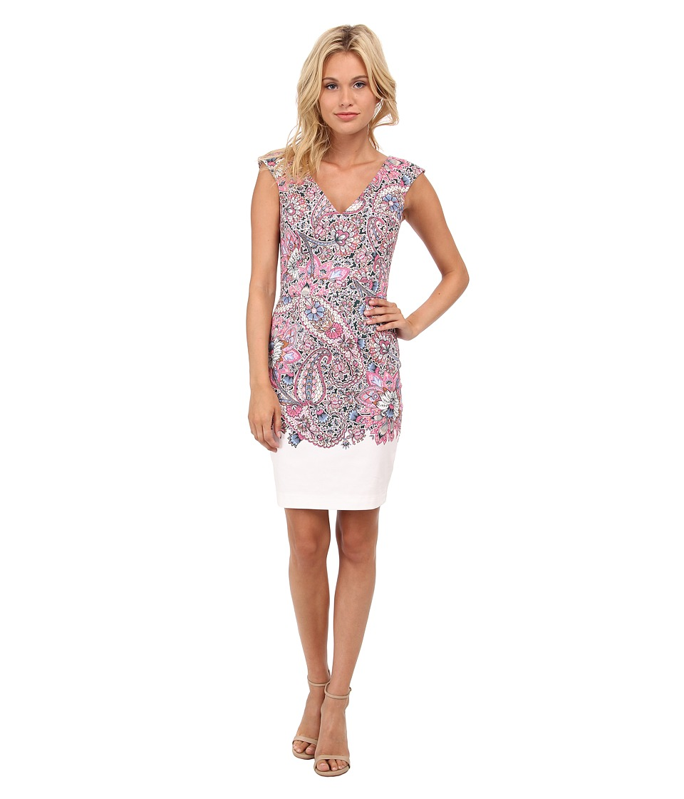 French Connection - Sundown Border Cotton Dress 71EBV (Ziggy Pink Multi) Women