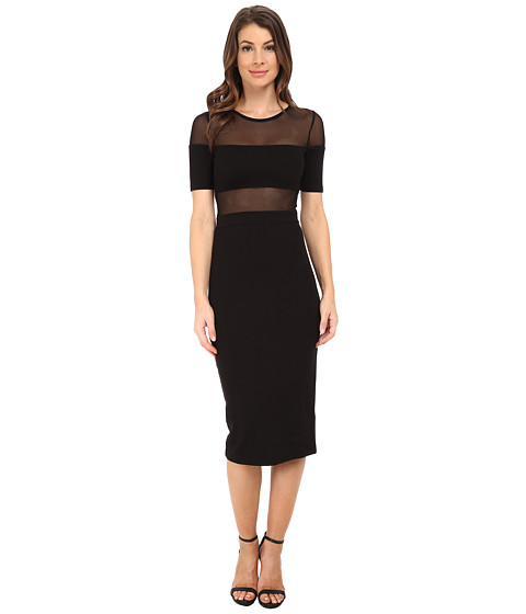 French Connection - FT Linear Mesh Dress 71DXD (Black) Women