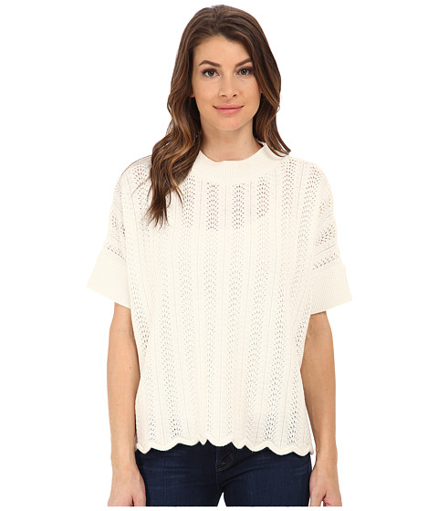French Connection - Iris Knits Top 78ECR (Winter White) Women