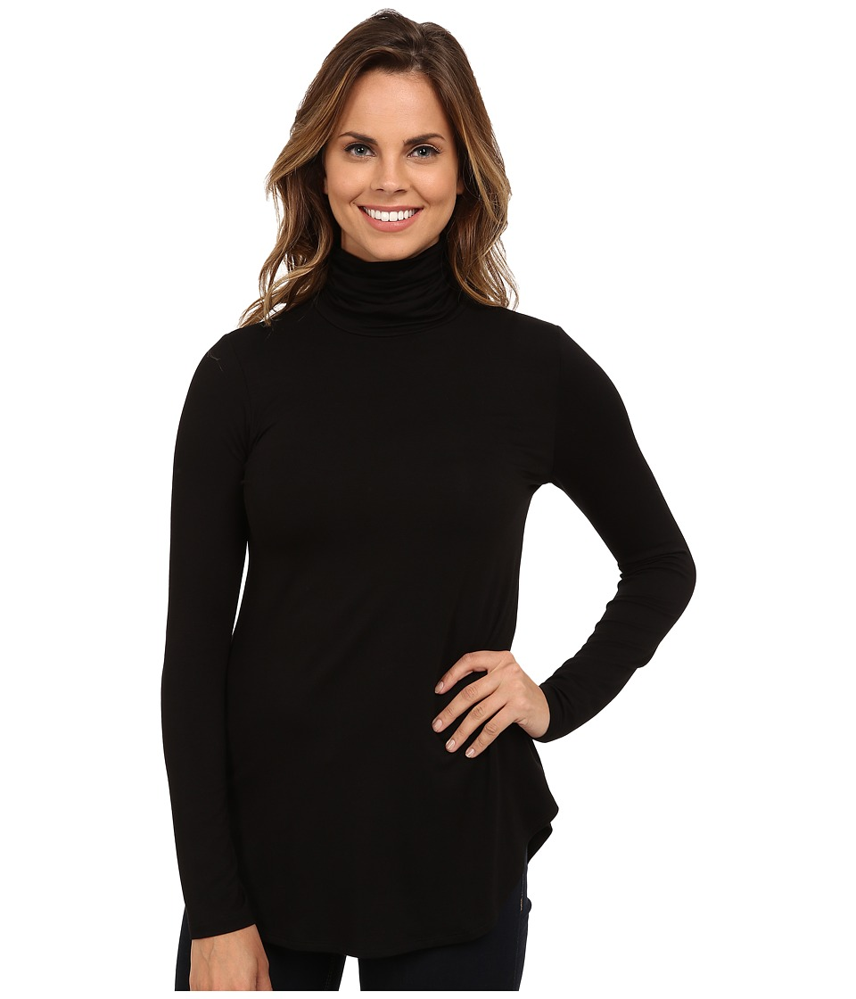 Karen Kane Long Sleeve Turtleneck Tee (Black) Women
