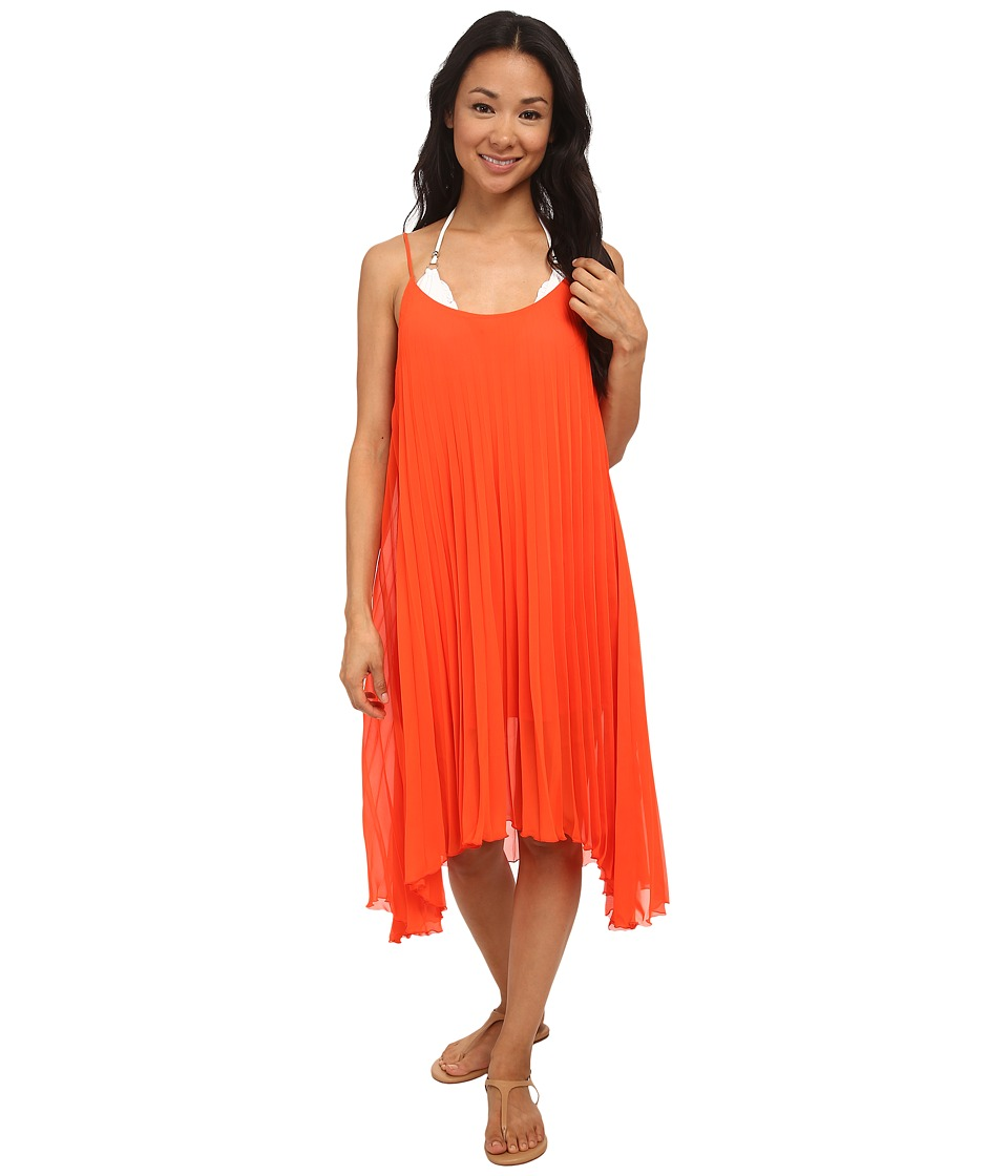 Bleu Rod Beattie - Over The Edge A-Line Pleated Dress (Flame) Women's Dress