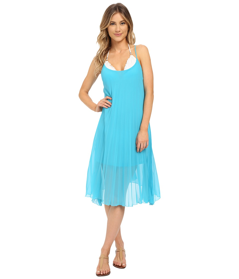 Bleu Rod Beattie - Over The Edge A-Line Pleated Dress (Bleu Crush) Women's Dress