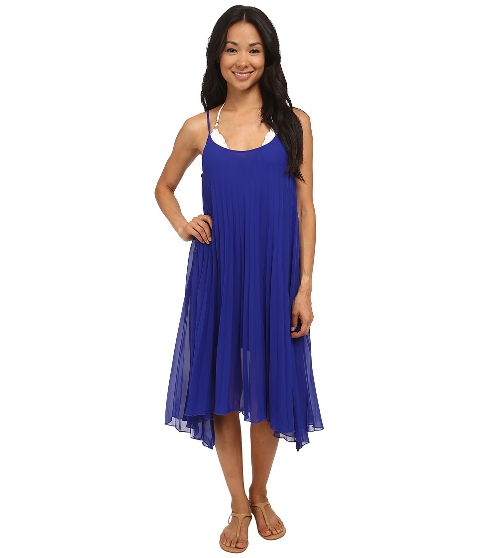 Bleu Rod Beattie - Over The Edge A-Line Pleated Dress (Twilight Bleu) Women's Dress