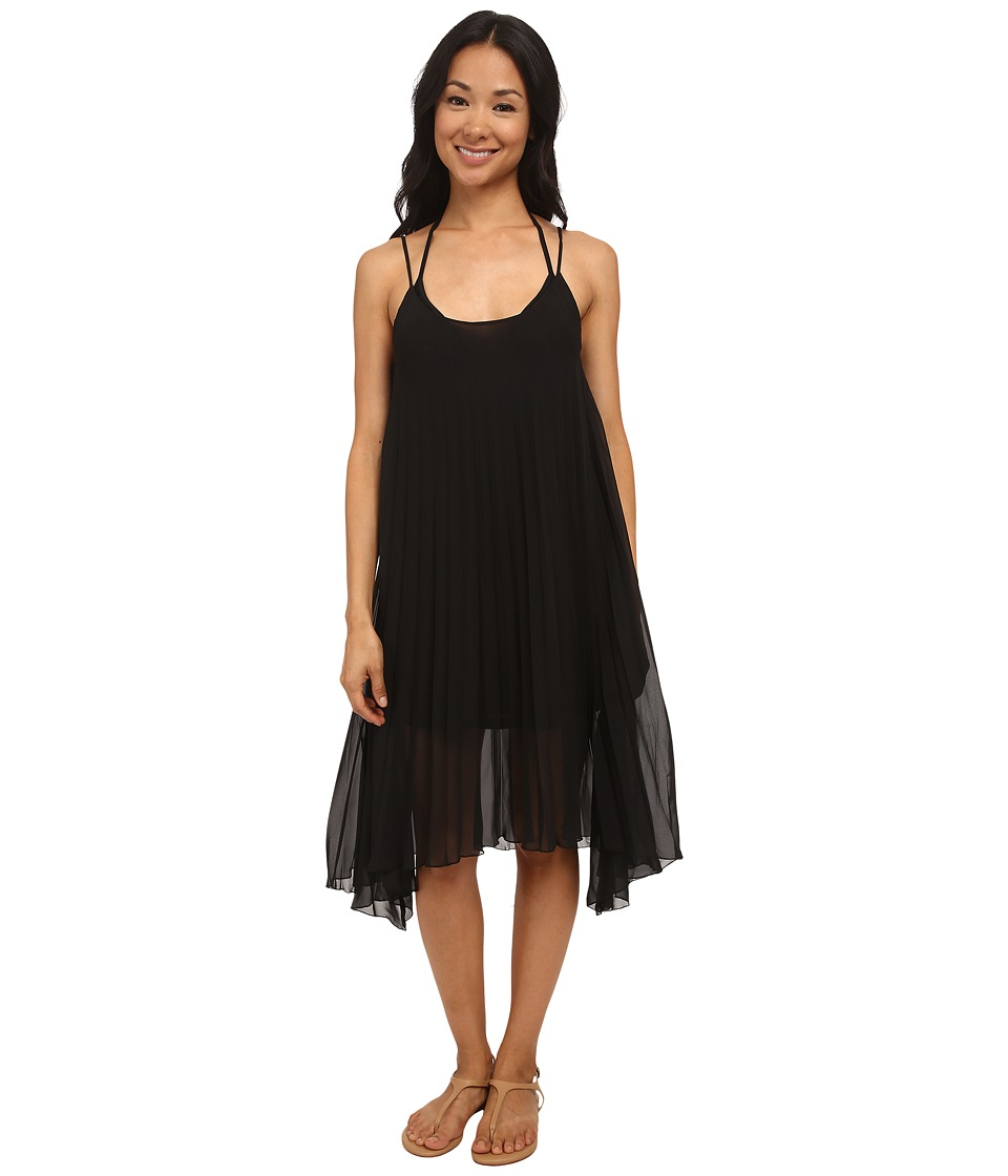 Bleu Rod Beattie - Over The Edge A-Line Pleated Dress (Black) Women's Dress