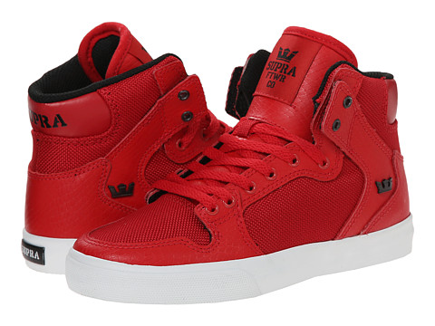 Supra Kids - Vaider (Little Kid/Big Kid) (Red) Boys Shoes