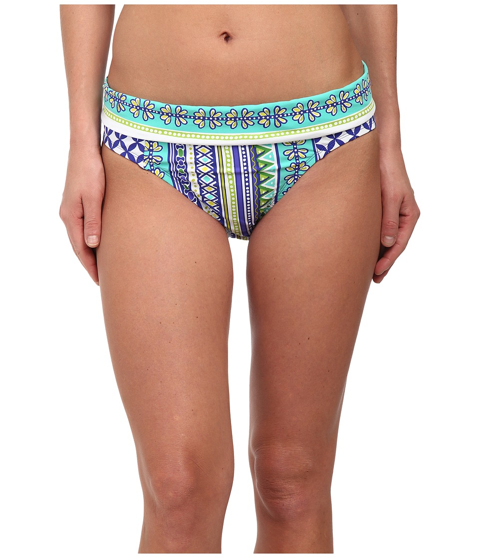 Bleu Rod Beattie - Baja Bohemian Banded Hipster Bottoms (Twilight Bleu) Women's Swimwear