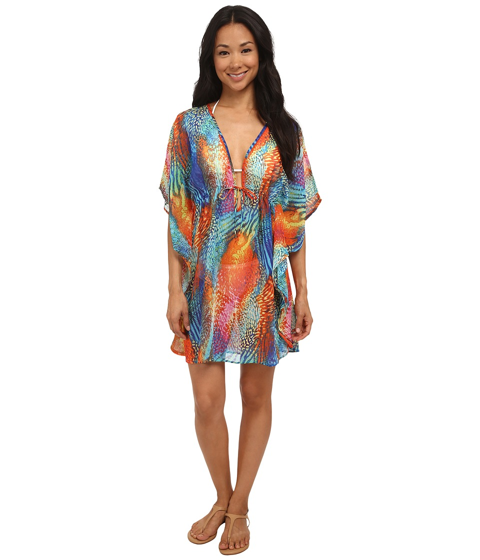 Bleu Rod Beattie - Wild At Heart Caftan Cover-Up (Multi) Women's Swimwear