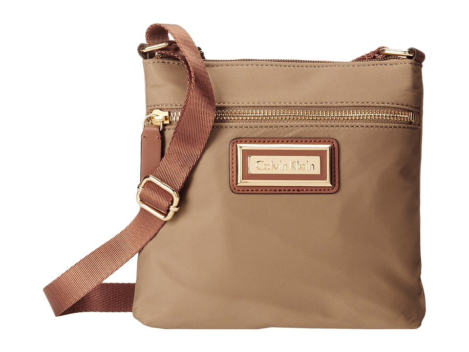 Calvin Klein - Nylon Crossbody (Light Khaki) Cross Body Handbags