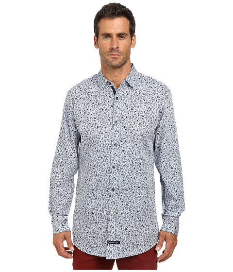 English Laundry - El Sport Shirt (Black Floral) Men's Clothing