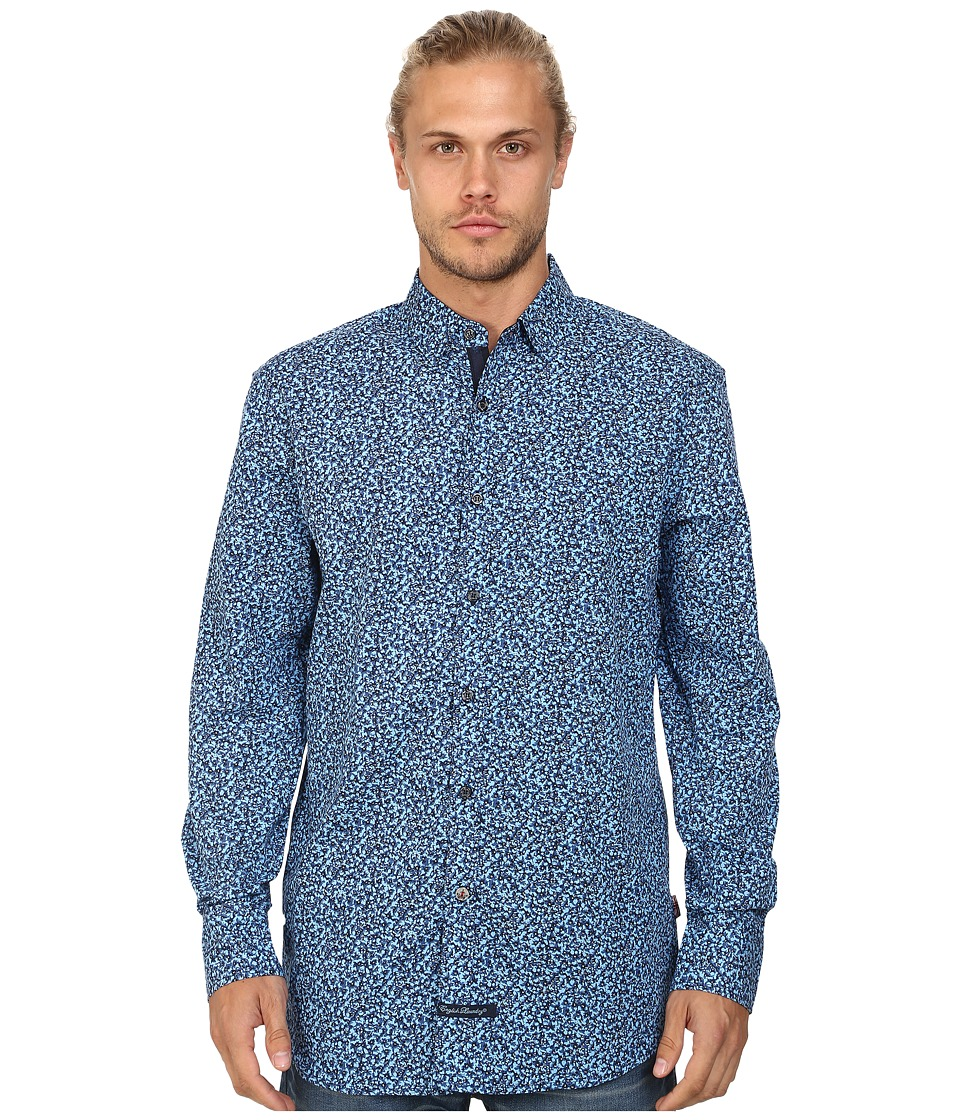English Laundry - El Sport Shirt (Blue Floral) Men's Clothing