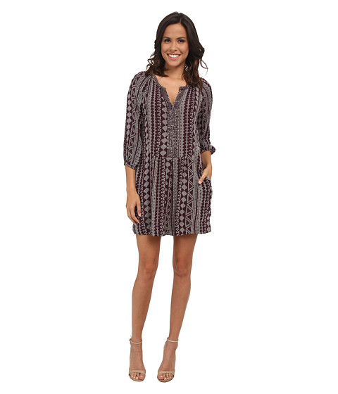 Velvet by Graham & Spencer - Geraldine03 African Print Dress (Wine) Women