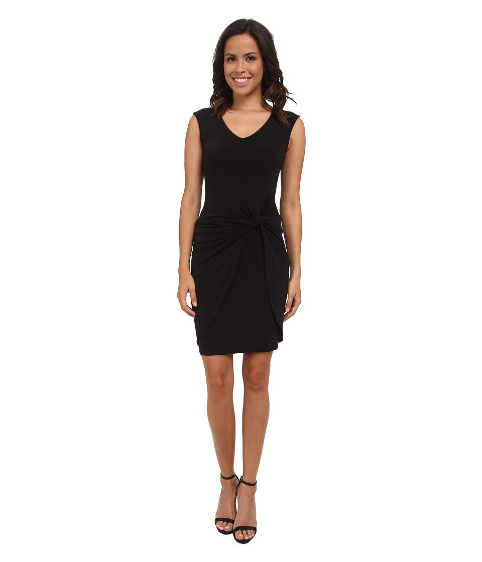 Velvet by Graham & Spencer - Lake03 Stretch Jersey Dress (Black) Women's Dress