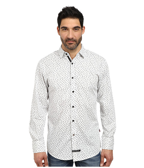 English Laundry - El Sport Shirt (White Paisley) Men's Clothing