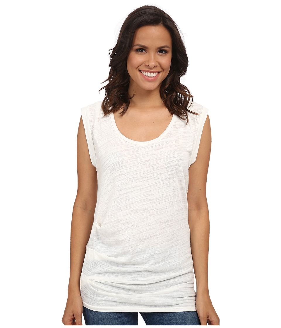 Velvet by Graham & Spencer - Tyrina03 Sleeveless Soft Knit Top (Off White) Women's Clothing