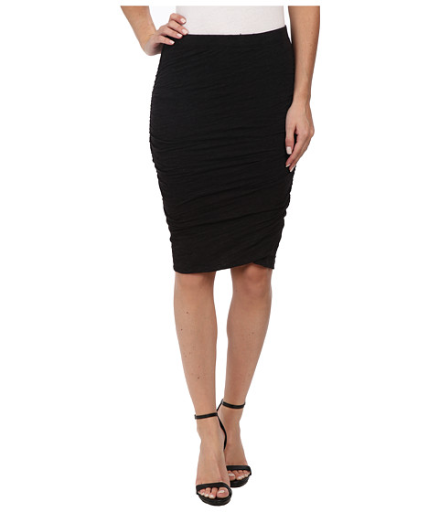Velvet by Graham & Spencer - Larsa03 Soft Knit Pencil Skirt (Black) Women