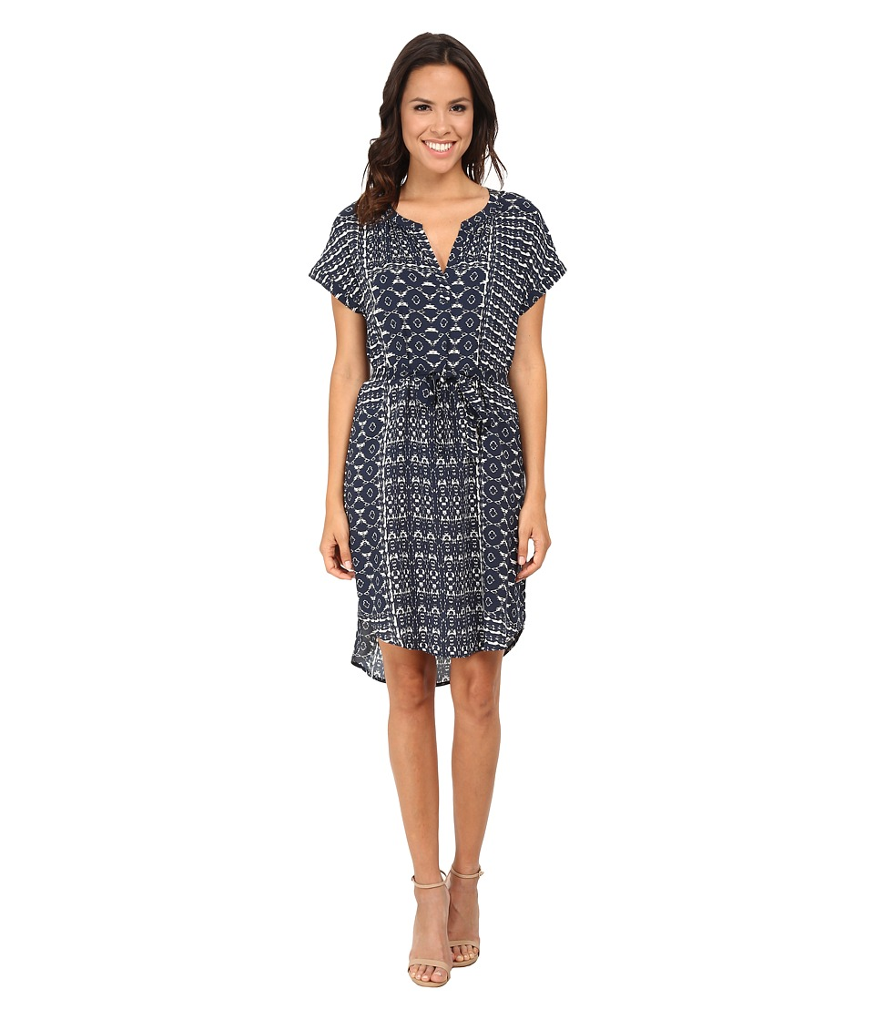Velvet by Graham & Spencer - Amabel03 Printed Challis Dress (Twilight) Women's Dress