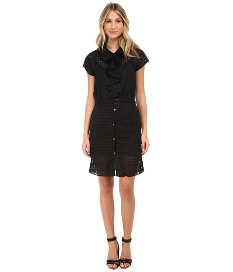 Paul Smith - Patterned Button Up Dress (Black Multi) Women
