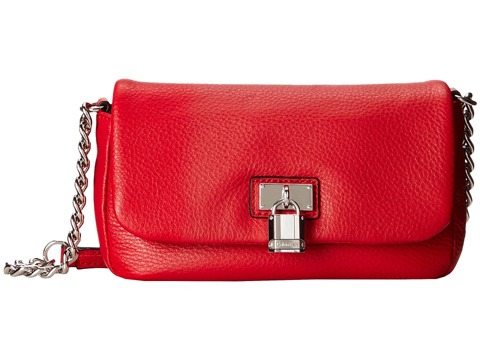 Calvin Klein - Pebble Crossbody (Red) Cross Body Handbags
