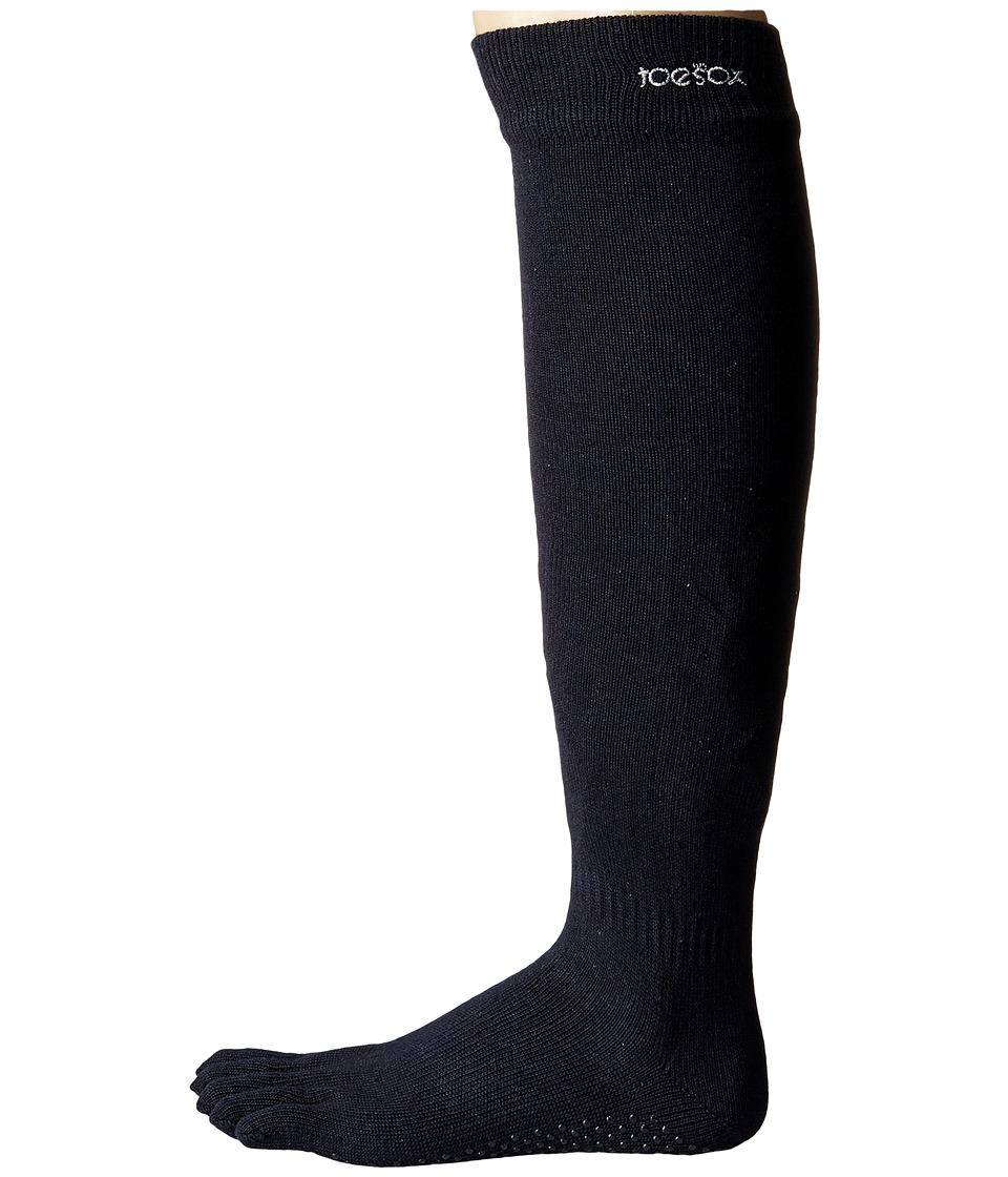 toesox - Grip Full Toe Scrunch (Black) Women's Low Cut Socks Shoes