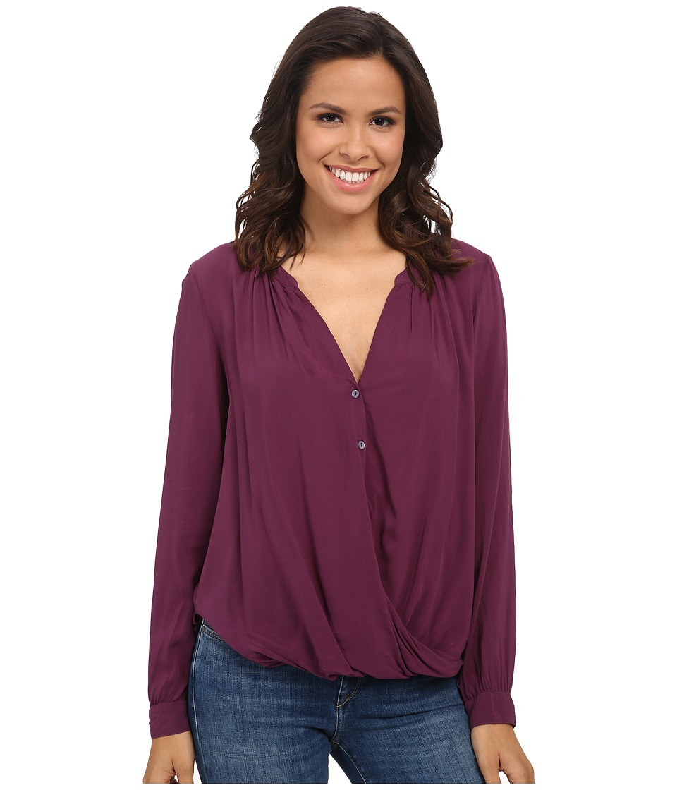 Velvet by Graham & Spencer - Ganesa03 Rayon Challis Blouse (Plume) Women's Blouse