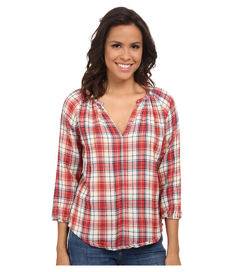 Velvet by Graham & Spencer - Fran03 Plaid Shirt (Maypole) Women's Clothing