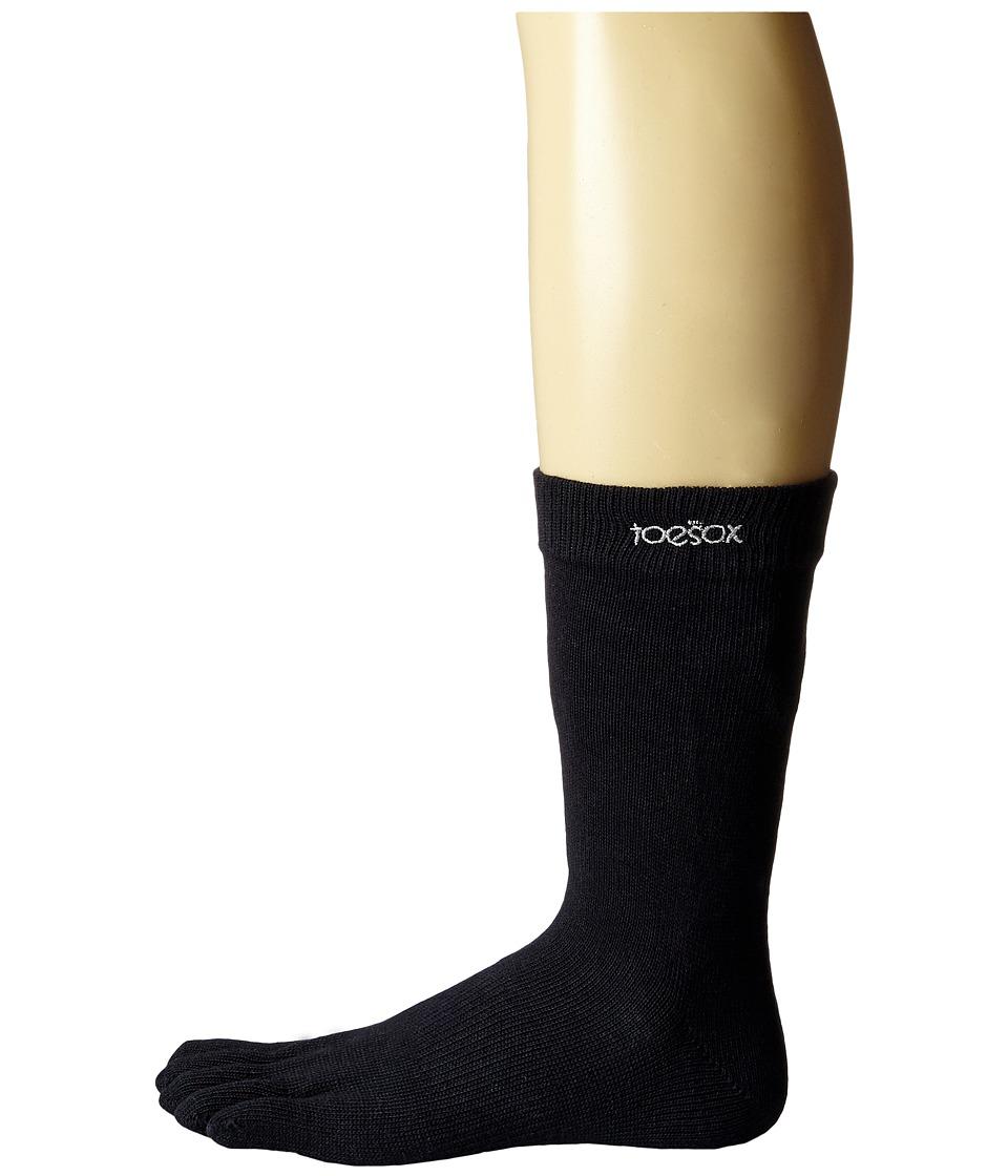 toesox - Casual Full Toe Crew (Black) Women's Crew Cut Socks Shoes
