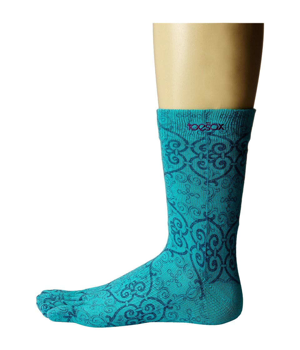 toesox - Casual Full Toe Crew (Mosaic) Women's Crew Cut Socks Shoes