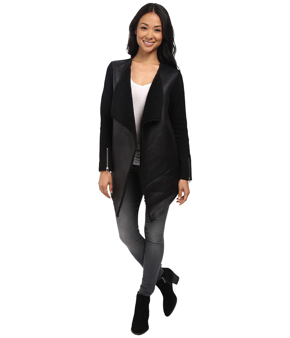 Velvet by Graham & Spencer - Columba03 Long Sleeve Jacket (Black) Women's Coat