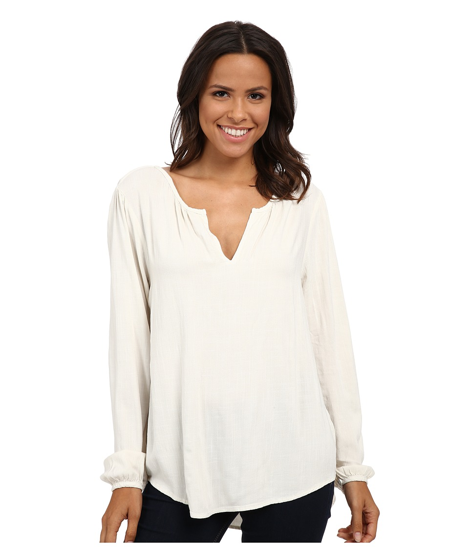 Velvet by Graham & Spencer - Lala03 Rayon Crepe Long Sleeve Blouse (Milk) Women's Blouse