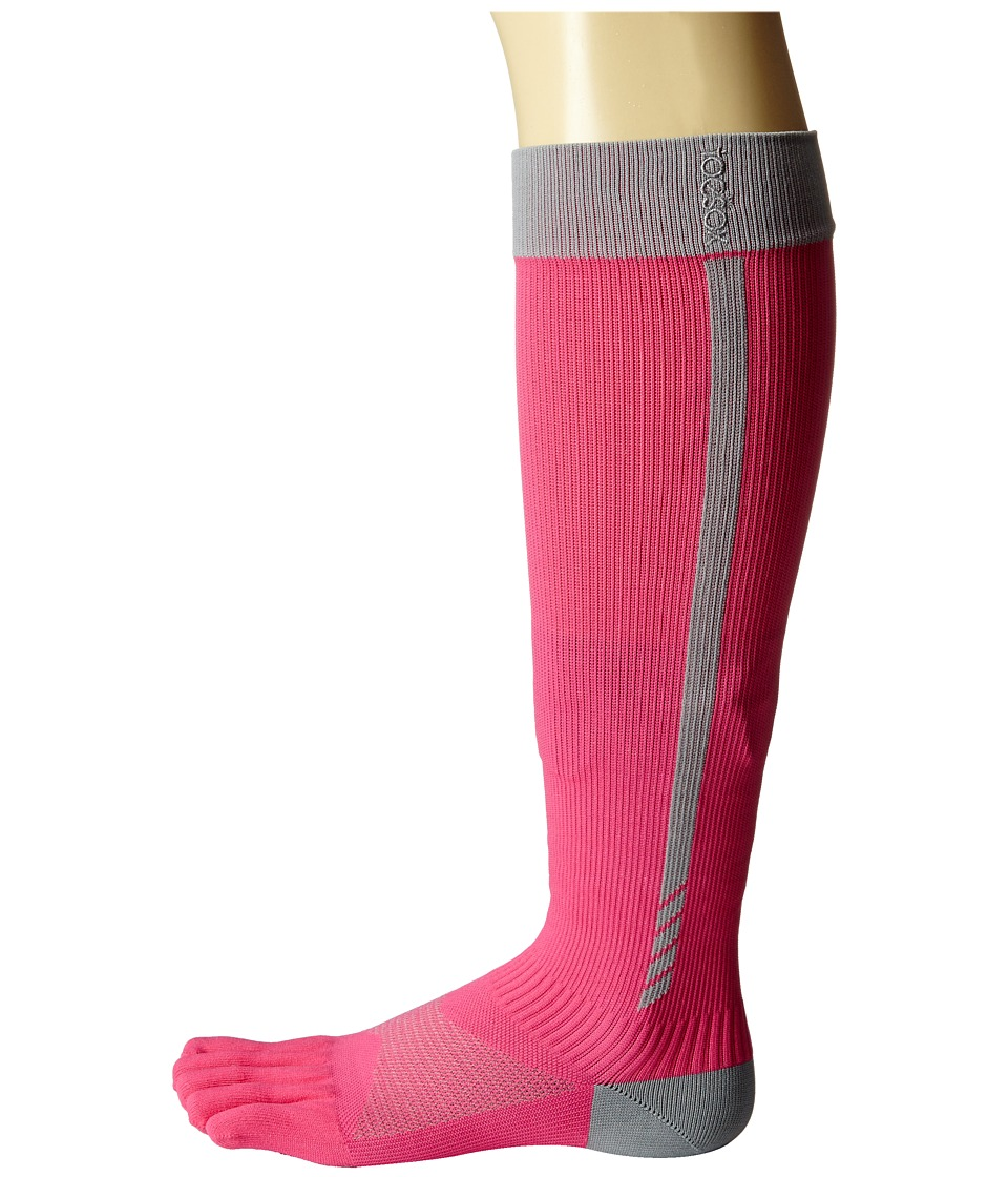 toesox - Sport Compression Knee High (Flush 4 AM) Women's Knee High Socks Shoes