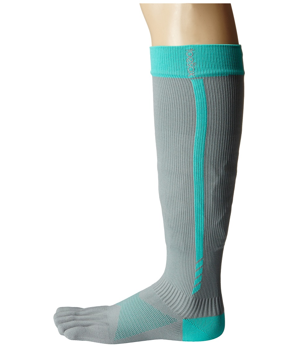 toesox - Sport Compression Knee High (4AM Ice) Women's Knee High Socks Shoes