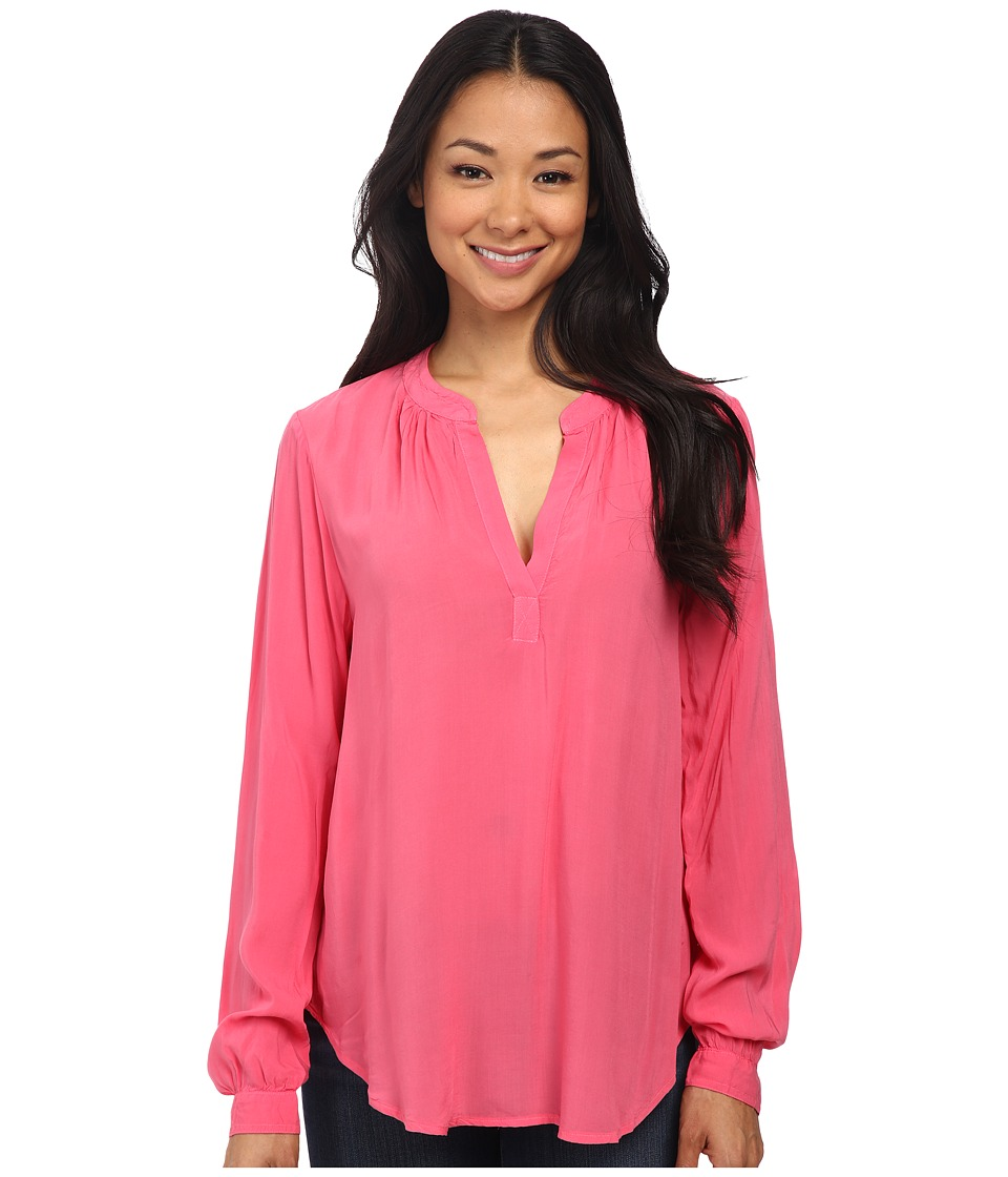 Velvet by Graham & Spencer - Rosie03 Rayon Challis Long Sleeve Blouse (Confection) Women's Blouse