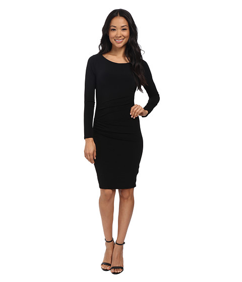 Velvet by Graham & Spencer - Yesenia03 Stretch Jersey Long Sleeve Dress (Black) Women