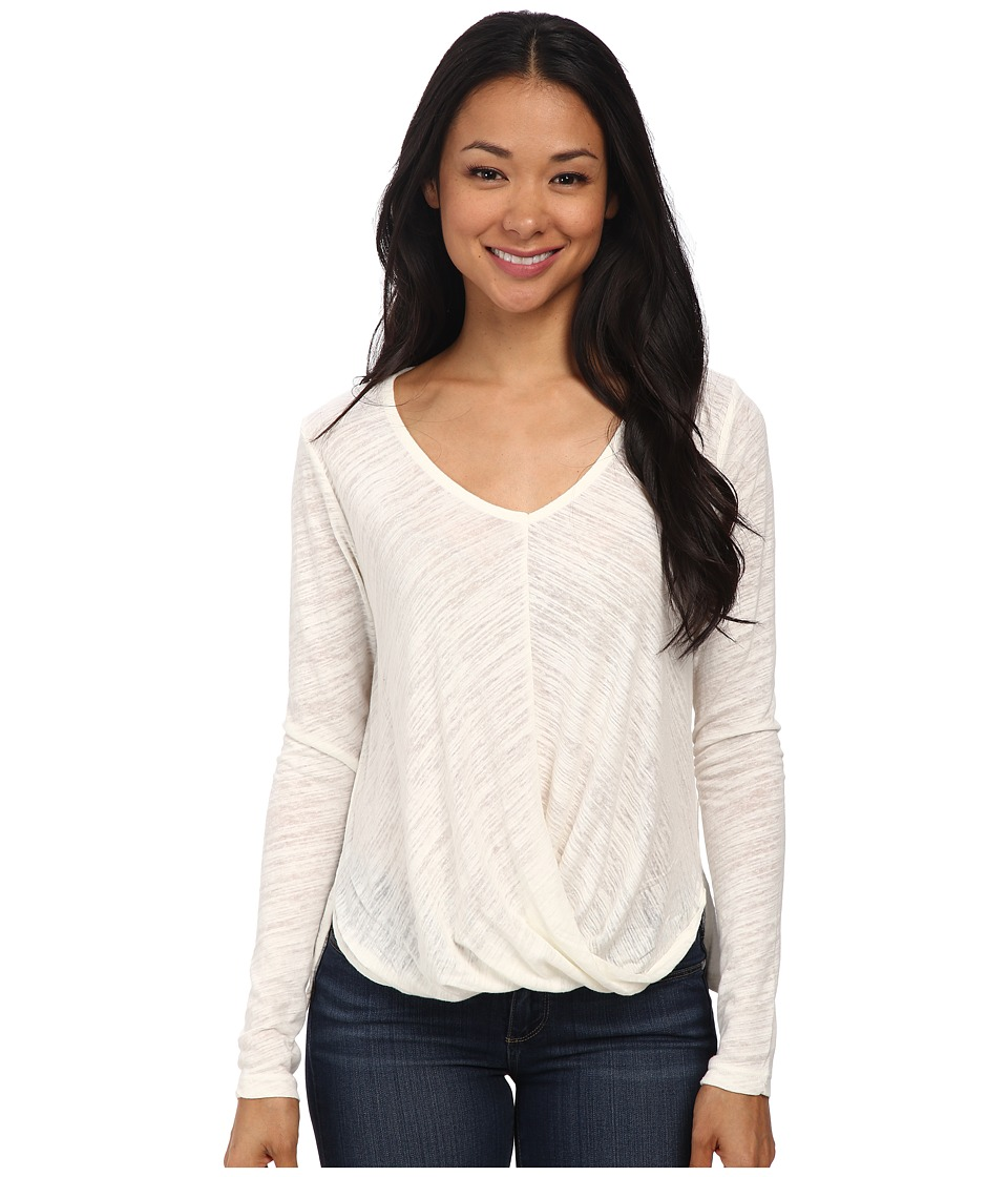 Velvet by Graham & Spencer - Verlinn03 Soft Texture Knit Long Sleeve Top (Off White) Women's Clothing