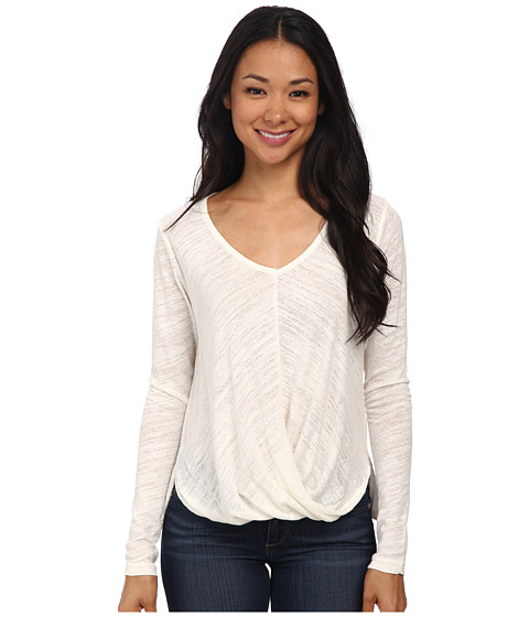 Velvet by Graham & Spencer - Verlinn03 Soft Texture Knit Long Sleeve Top (Off White) Women
