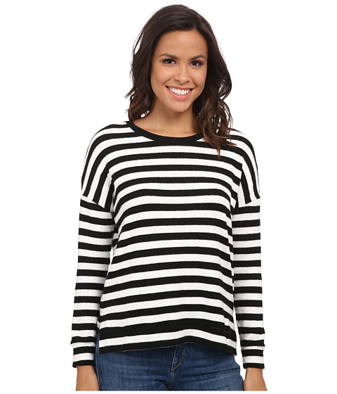 Velvet by Graham & Spencer - Teresita03 Cozy Jersey Stripe Long Sleeve Pullover (Cream) Women