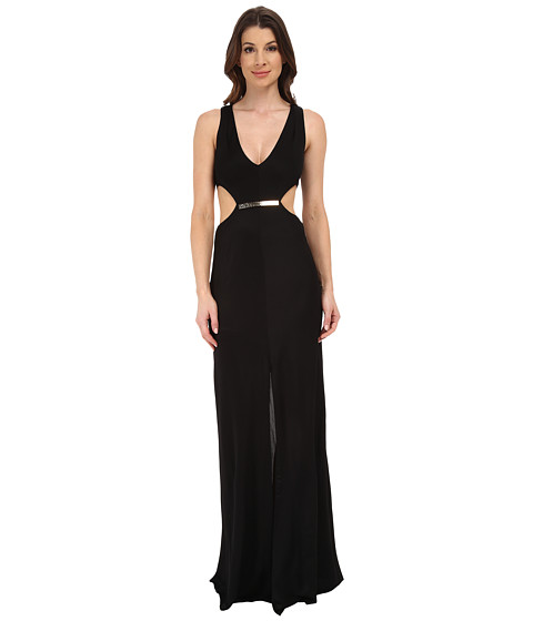 BCBGMAXAZRIA - Valentia Long Gown (Black) Women's Dress