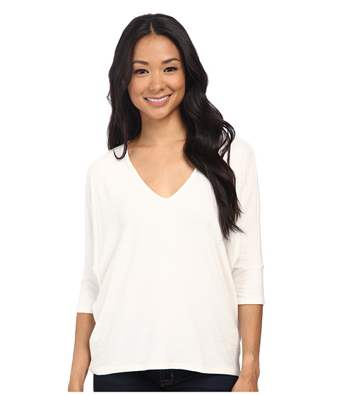 Velvet by Graham & Spencer - Verina03 Cozy Jersey Dolman Top (Cream) Women