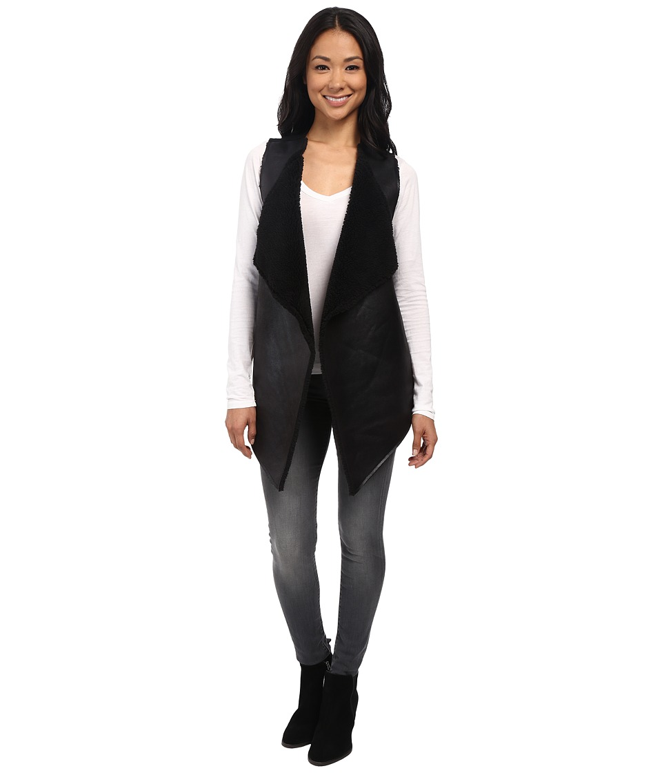 Velvet by Graham & Spencer - Vivikah03 French Terry Vest (Black) Women's Vest