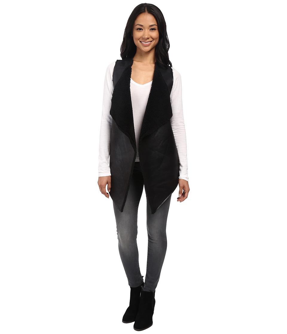 Velvet by Graham & Spencer - Vivikah03 French Terry Vest (Black) Women's Vest