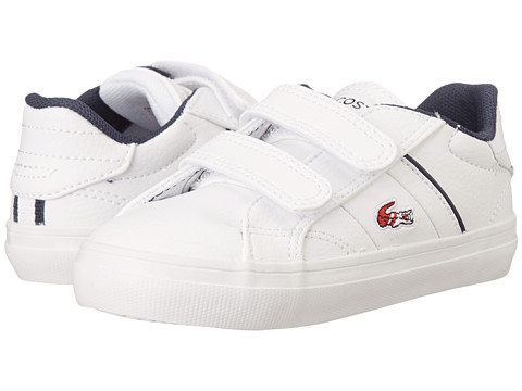 Lacoste Kids - Fairlead HTB B SP15 (Toddler/Little Kid) (White/Red) Boy's Shoes