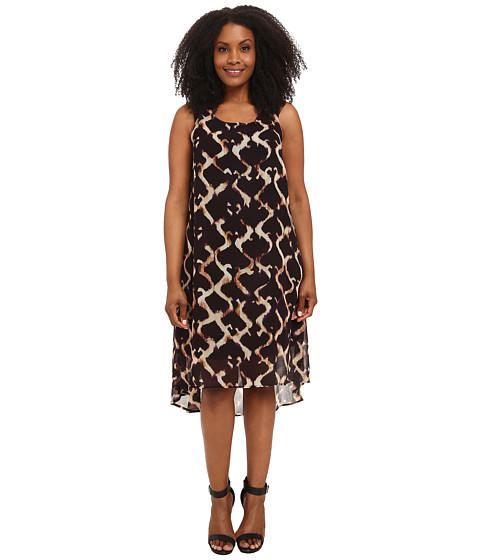 Karen Kane Plus - Plus Size Print Hi Lo Maxi Dress (Print) Women's Dress