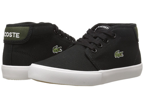 Lacoste Kids - Ampthill WD K SP15 (Little Kid) (Black/Green) Boy's Shoes