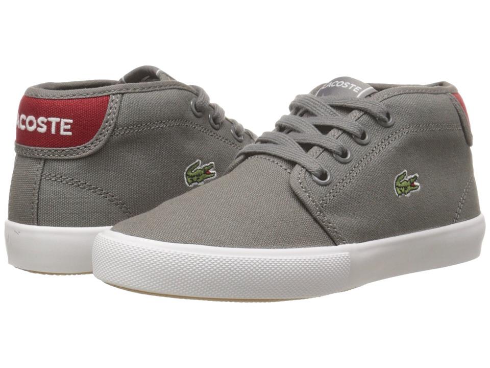 Lacoste Kids - Ampthill WD K SP15 (Little Kid) (Dark Grey/Red) Boy's Shoes