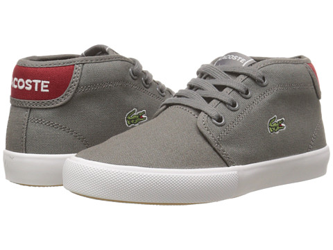 Lacoste Kids - Ampthill WD K SP15 (Little Kid) (Dark Grey/Red) Boy's Shoes