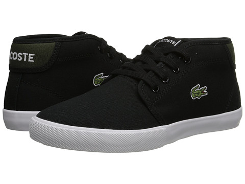 Lacoste Kids - Ampthill WD J SP15 (Little Kid/Big Kid) (Black/Green) Boy's Shoes