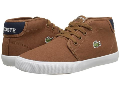 Lacoste Kids - Ampthill WD J SP15 (Little Kid/Big Kid) (Tan/Dark Blue) Boy's Shoes