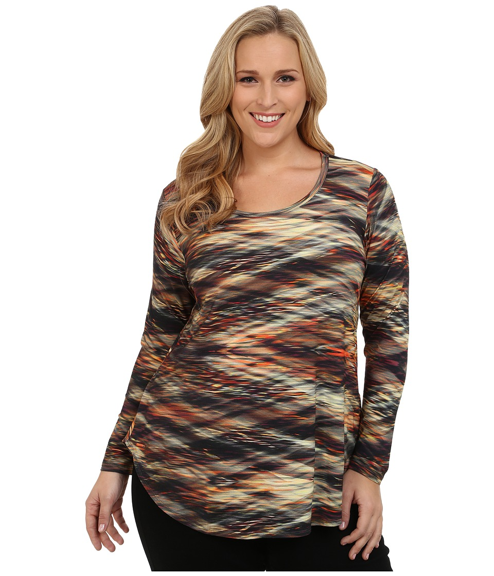 Karen Kane Plus - Plus Size Crystal Vision Print Tee (Print) Women's T Shirt